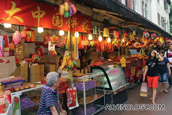 Mooncakes store in Chinatown