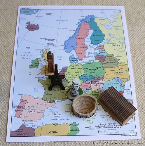 5 Landmarks on Political Map of Europe