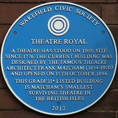 Photo of Frank Matcham blue plaque