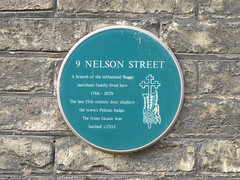 Photo of 9 Nelson Street green plaque