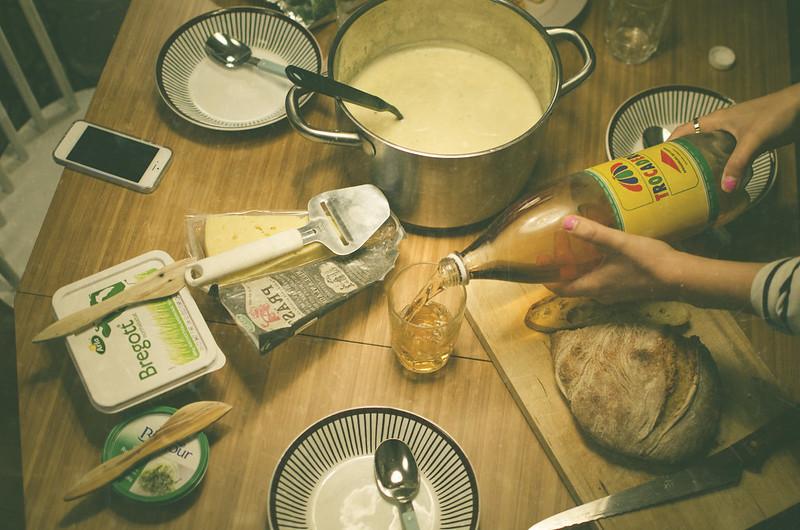 Höstsoppa och nybakat bröd.
