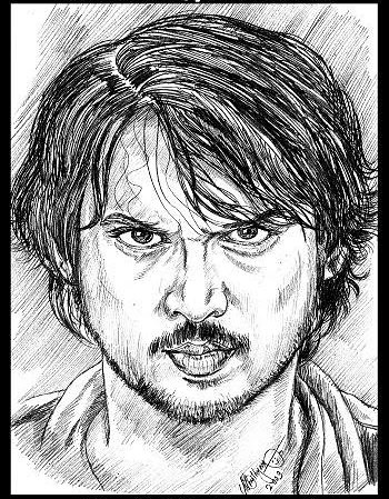Portraits celebrities and famous personalities portraits pen drawings pencil drawings artist anikartick