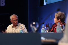 Prof Asit Biswas, President, Third World Centre for Water Management and Margaret Catley-Carlson, Patron, Global Water Partnership