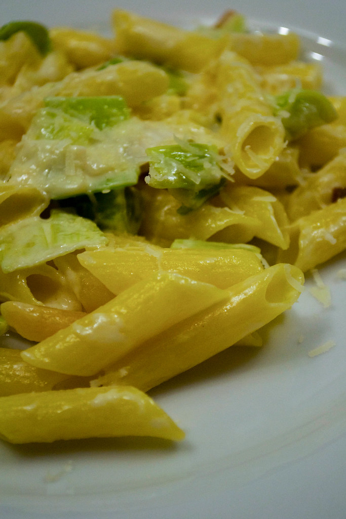 comte with pasta