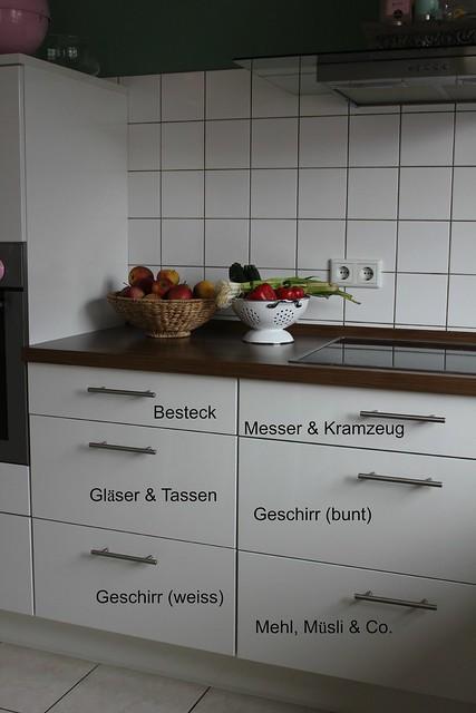 kuchenschranke clever einraumen neue kuche sinnvoll einraumen