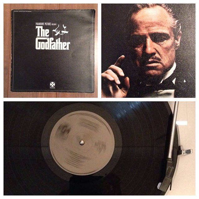 "161113_ #np ""The Godfather OST"" by Nino Rota #vinyl"