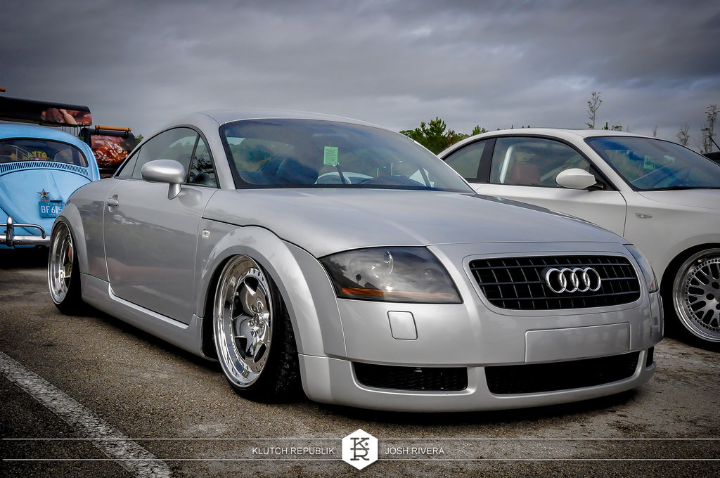 bagged mk1 audi reflex silver tt 180 225 ccw classic 5  at simply clean 5