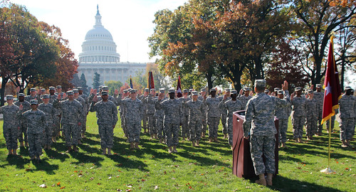 Soldiers re-enlist at U.S. Capitol