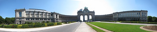 Brussels Arc de Triomph panorama