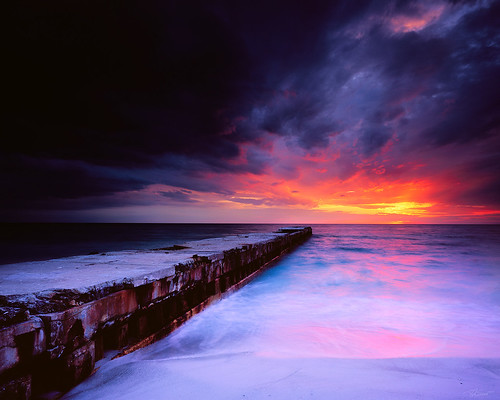 sunset storm film beach landscapes florida fineart velvia prints 4x5 2009 largeformat drumscan fineartweb ebonysv45ti sarasotabradenton jaspcphotography josesuro