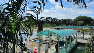 Image of The Bridge on the River Kwai near Kanchanaburi. train river thailand kanchanaburi riverkwai deathrailway easternandorientalexpress khwaeyai