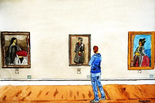 Frauen in der Pinakothek