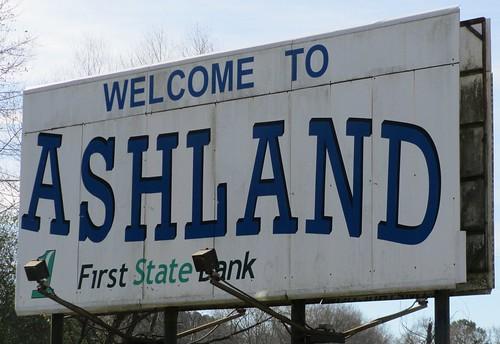 Welcome to Ashland Sign (Ashland, Alabama)