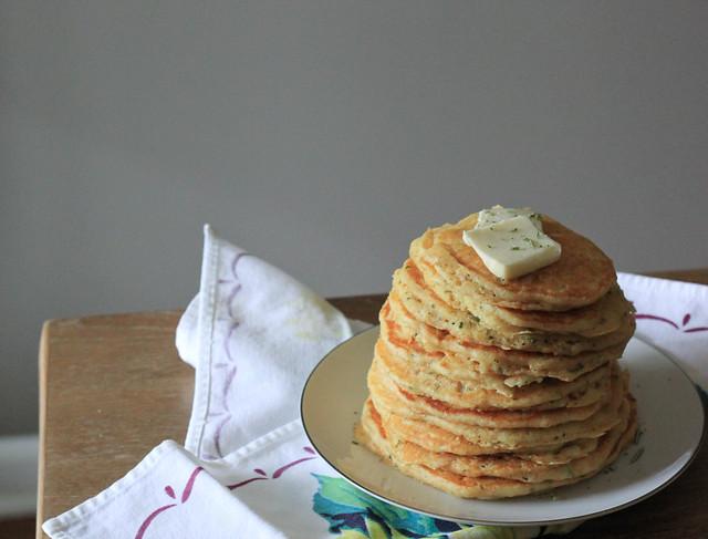 Southern Souffle: Rosemary Buttermilk Cornmeal Pancakes