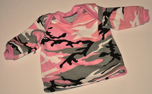 Bumstoppers 0-3 Pink Camo Lap tee