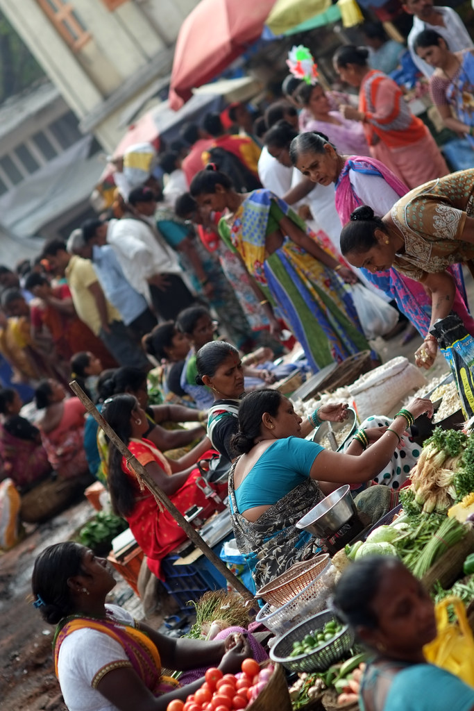 Women selling at Colaba Causeway