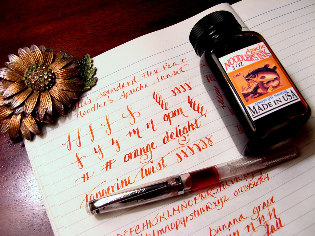 Sailor Jentle Apricot is a stunningly bright and vibrant orange ink that  leaps off of the page and grabs your attention. I don't usually gravitate  towards ...
