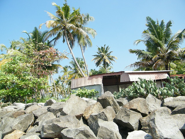 a home at Thirumullavaram beach, Kerala