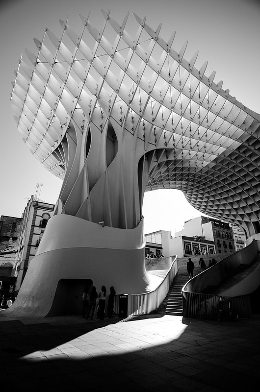 Sevilla's Las Setas in Black and White.