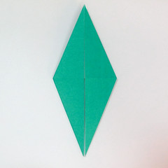 สอนวิธีการพับกระดาษเป็นรูปปลาฉลาม (Origami Shark) 016