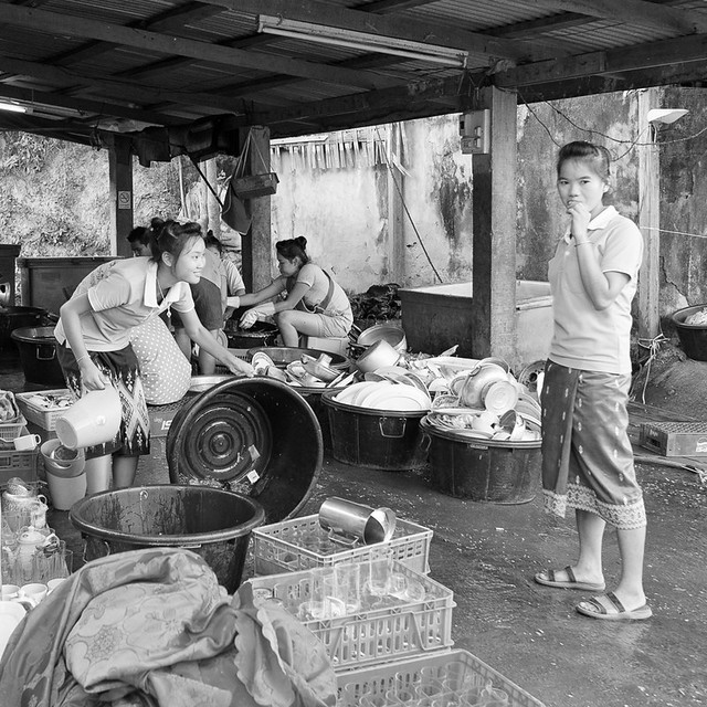 20 Days in Laos, #36: Doing the dishes.