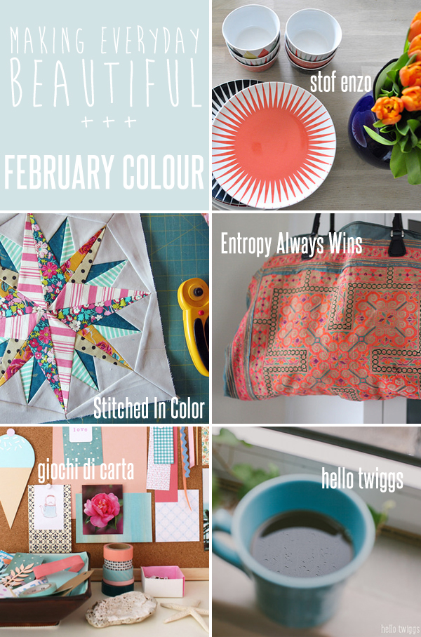 making everyday beautiful : February colour | Emma Lamb