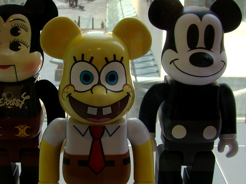Bearbricks 400% Spongebob Mickey Mouse