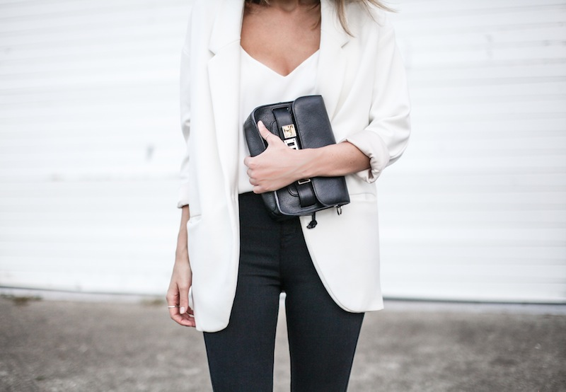 modern legacy australian fashion blog giveaway David Jones denim Lee jeans Proenza Schouler PS11 Zara boyfriend blazer Alexander Wang Antonia heels Camilla and Marc Zoya Cami monochrome white on white (12 of 14)