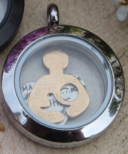 Breastfeeding Jewelry - Mother's Day - Origami Owl Plate