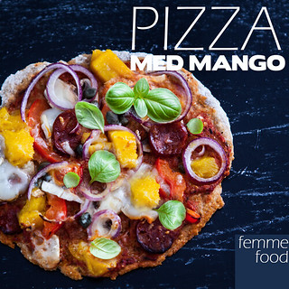 Pizza med mango