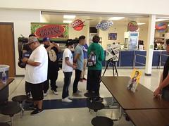 Day of Art : GPFAA HS students meet Dustin Cavazos!
