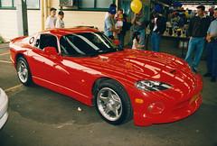 hennessey viper venom 1000 twin turbo(0.0), auto show(0.0), muscle car(0.0), race car(1.0), automobile(1.0), automotive exterior(1.0), vehicle(1.0), performance car(1.0), automotive design(1.0), chrysler viper gts-r(1.0), land vehicle(1.0), srt viper(1.0), supercar(1.0), sports car(1.0),