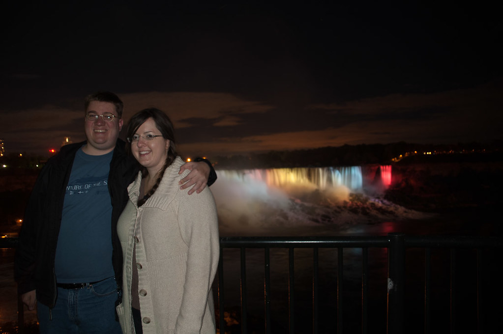 Ken and I at Niagara Falls at Night