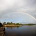 Rainbow over Shoreline Lake by Garrett Lau