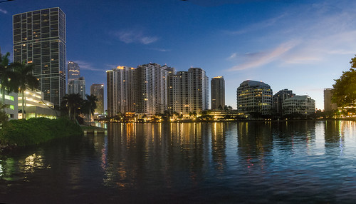 Sunrise on Key Brickell Drive