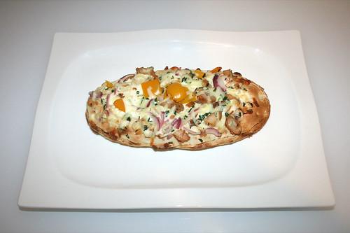 06 - Wagner Rustipani Hähnchenbrust auf Frischkäse-Creme / Chicken breast on cream cheese - Fertig gebacken / Finished baking