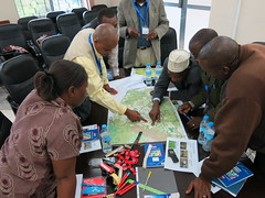 Stakeholder mapping environmental resources in Lushoto and Handeni ward. photo: by CLEANED VC