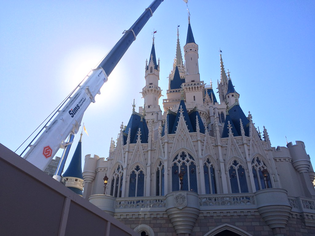 Beauty and the Beast, Cinderella Castle and the Crane | Tomatoe, Tomahtoe.