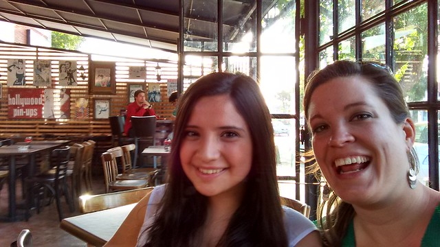 Posing with Ale in Vitacura, Santiago, Chile