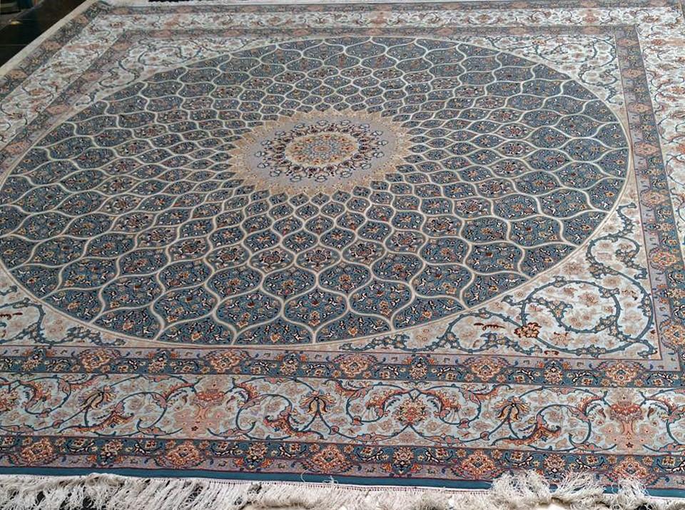 Isfahan 365x365 cm Tak Kheft Modarres Persian Area Rug Square (2)