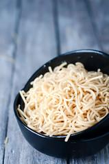 Raw uncooked pasta