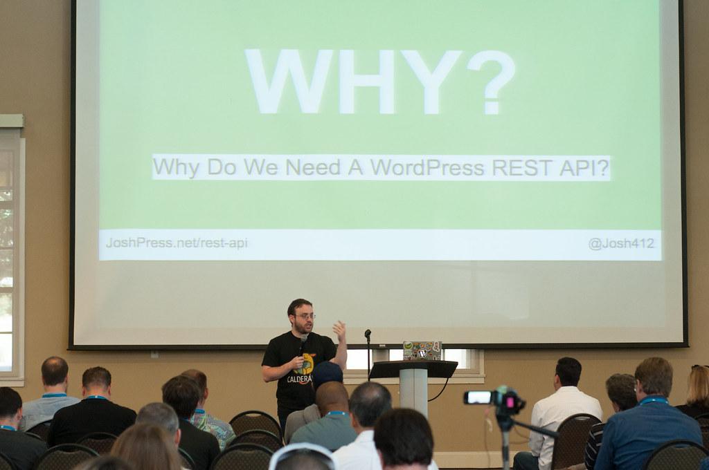 2016 WordCamp San Diego - Josh Pollock, Speaker (Photo by Kari Leigh Marucchi)