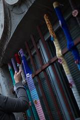 Yarn bombing Besançon 21