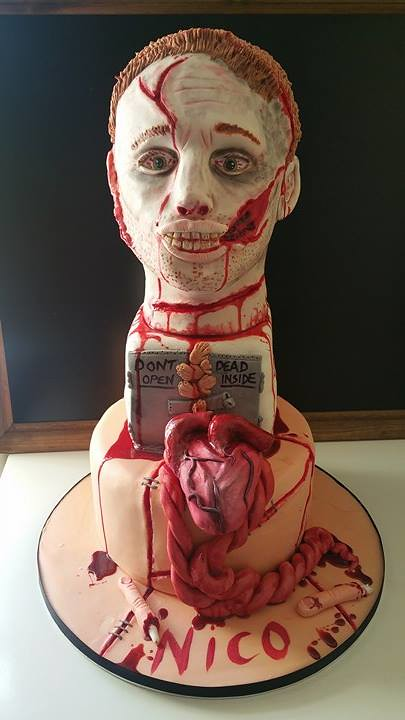 Walking Dead Inspired Cake by Ash Samuels