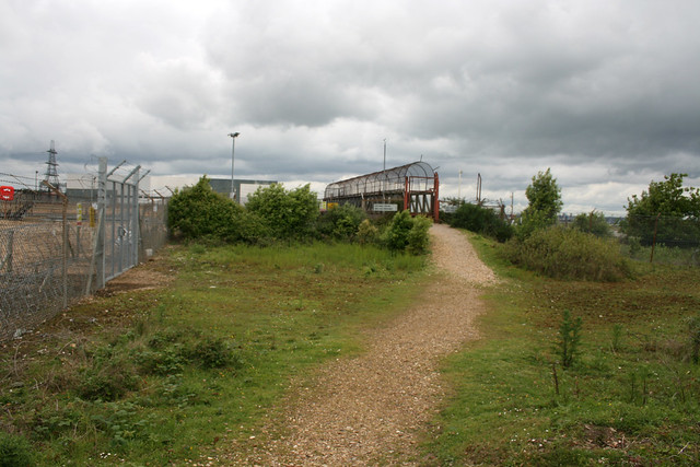 Approaching Fawley power station