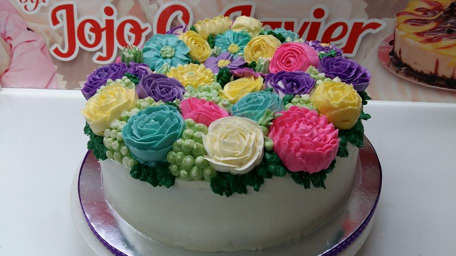 Beautiful Flower Cake by Chef Jojo Javier of Sweetielicious Homemade Goodies