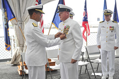 Adm. Cecil D. Haney, commander, U.S. Pacific Fleet, awards