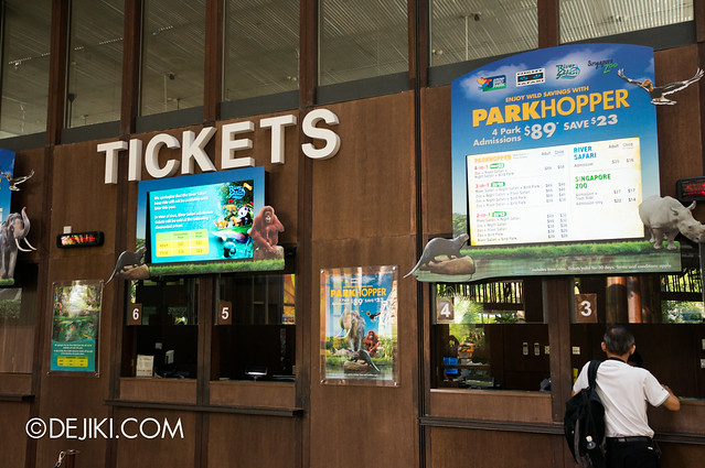 River Safari / Singapore zoo - ticketing