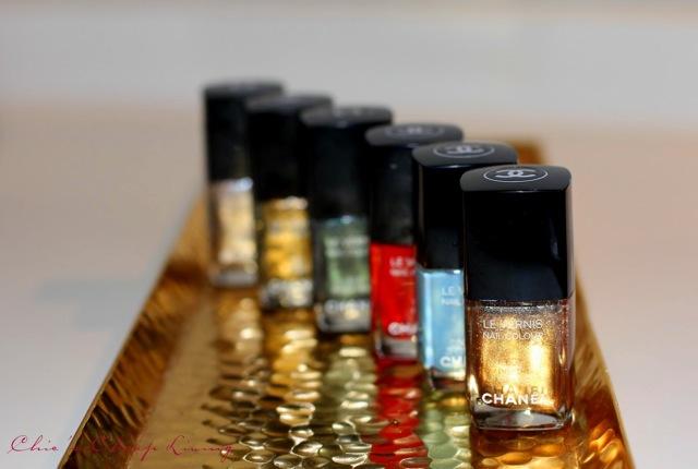 Chanel nail polish rows by Chic n Cheap Living
