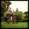 I love this view of the chapel at Marianapolis!